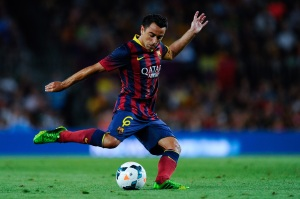 <> at Nou Camp on August 2, 2013 in Barcelona, Spain.