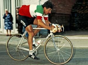 Francesco Moser in Parijs-Roubaix (Photo by Photosport Int Par